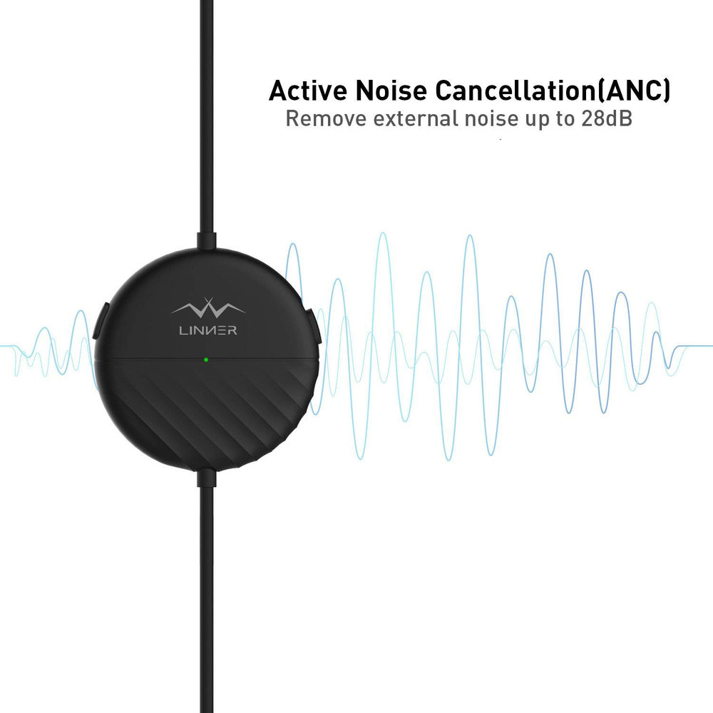 Active Noise Cancelling - Reduce the ambient noise up to 97%. Advanced active noise cancelling (ANC) technology frees yourself from external noise, airplane noise, city traffic or busy office.
