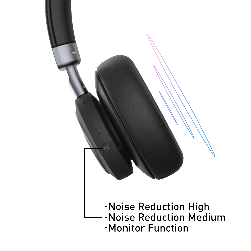 Hybrid Active Noise Cancelling Technology - Effectively filter out 35dB(99%) of the ambient noise. The active noise cancellation is adjustable and you can have it on high, medium or off for a variety of scenarios - shutting out the world or keeping an ear open for airport announcements...