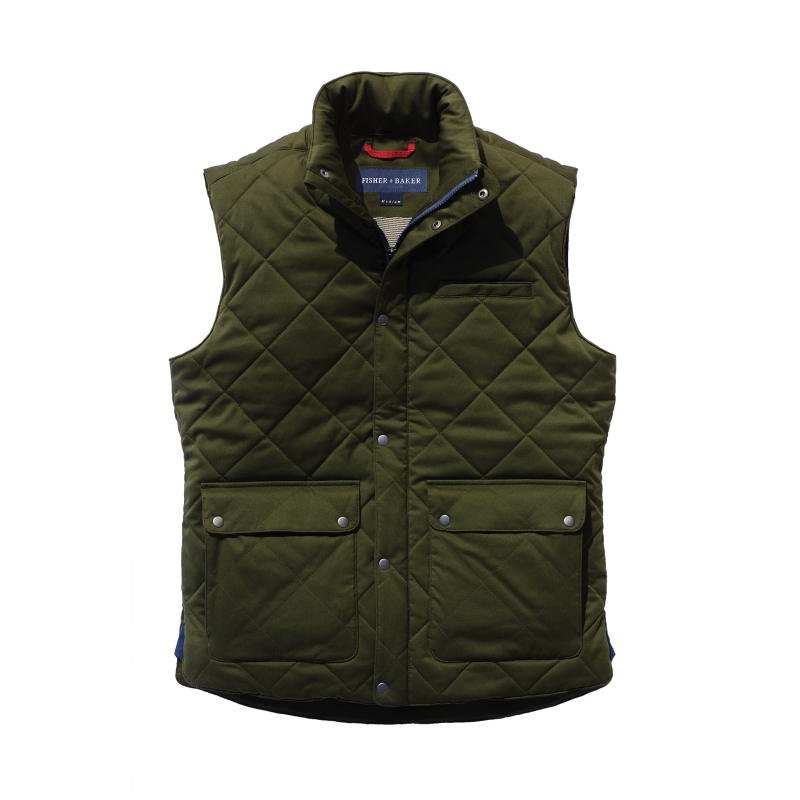 Fisher + Baker Green Vest