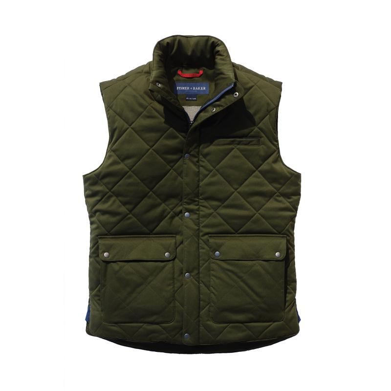 Fisher + Baker Green Vest