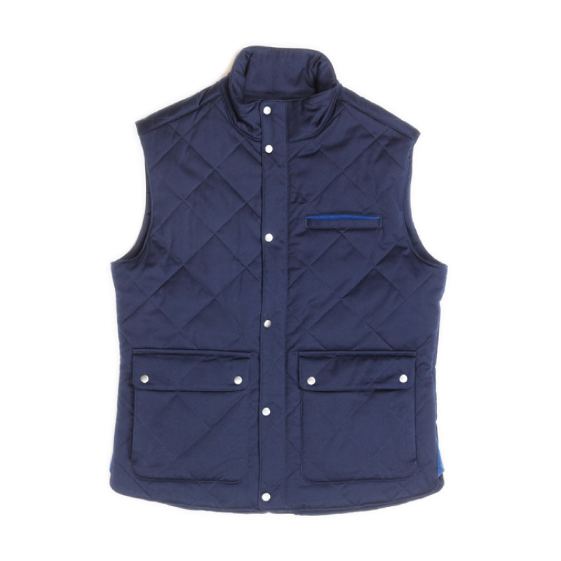 Fisher + Baker Navy Vest