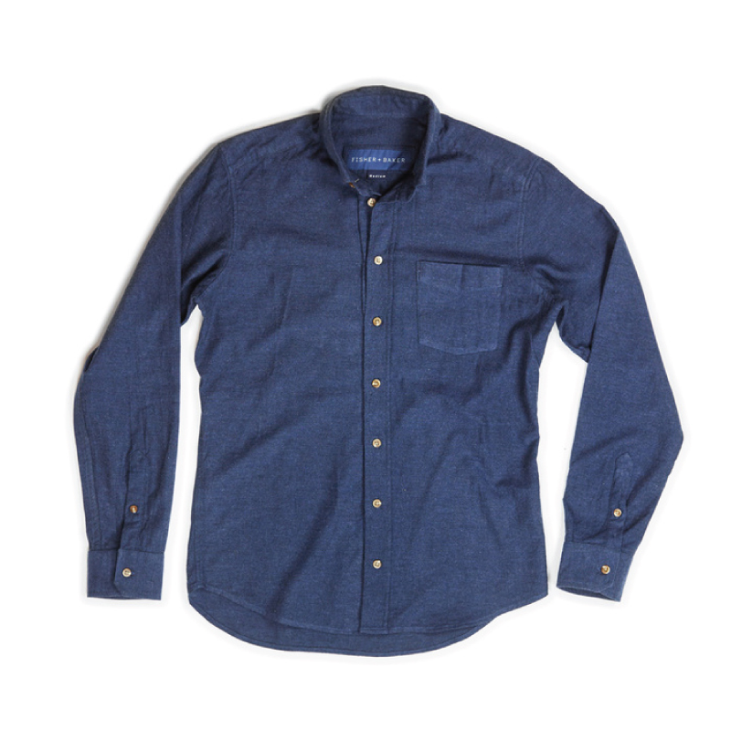 Fisher + Baker Navy Chambray Flannel Shirt