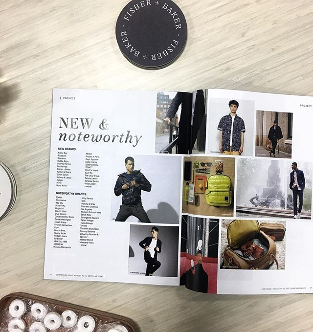 We're proud to be included in the show season issue of @mrmagonline as one of the best new brands to shop at @projectshow. Pay us a visit, booth #27169