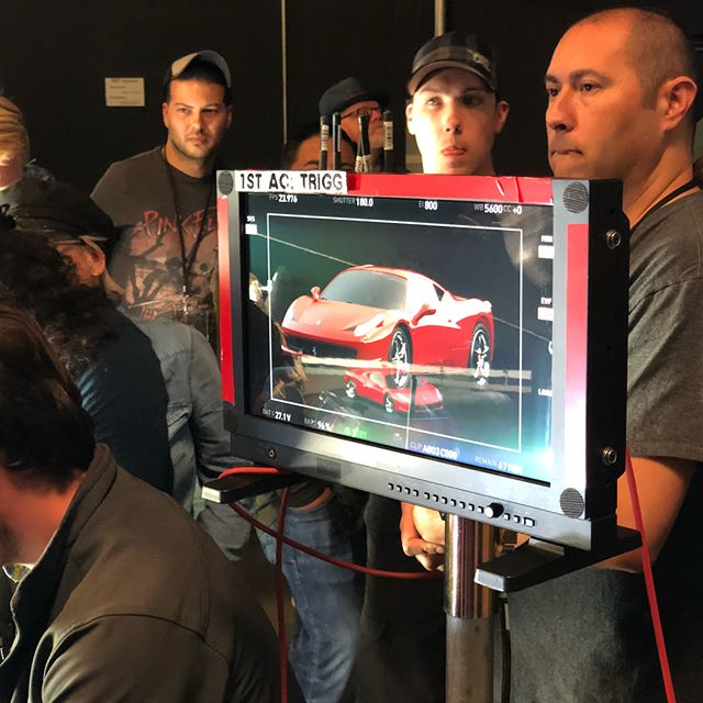 How to light a Ferrari @the_asc.  #cinematography #lighting #setlife #filmmaking #commercialshoot #masterclass #asc
