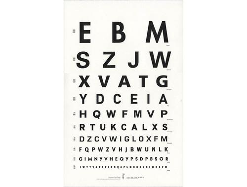 Sans Serif Eye Chart Poster Paper Hammer