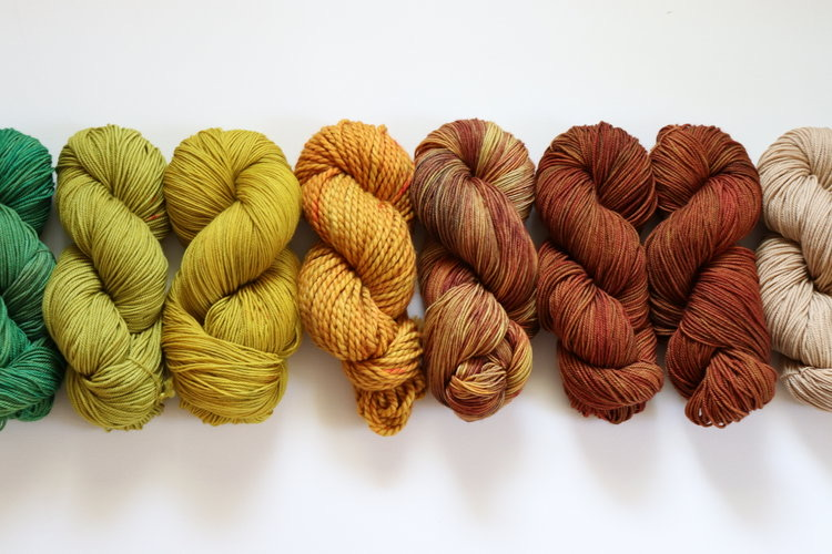 hand dyed yarn by twigberrystudio