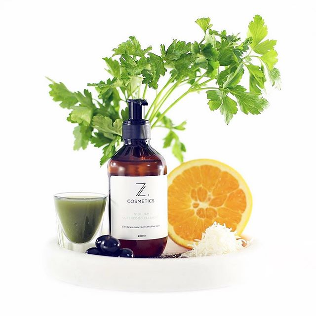 Our Nourish Superfood Cleanser is made from sustainable, naturally Aussie grown ingredients. It is gentle, great for sensitive skin, it gives a fresh full clean and refreshes your skin.  We love this product and hope you will too. - please recycle bottle after use. #zlovesyourface