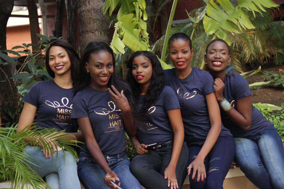 5 of the 20 finalists - Photo source:  Miss Haiti Org.