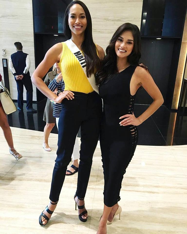 Miss Universe Haiti 2016 with reigning Miss Universe 2015, Pia Alonso Wurtzbach