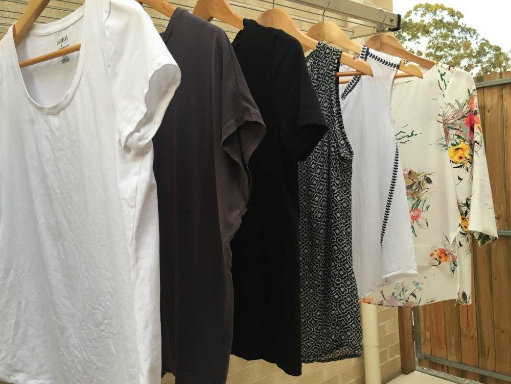 6 Tops - 3 t-shirts, 2 sleeveless, 1 dressy top