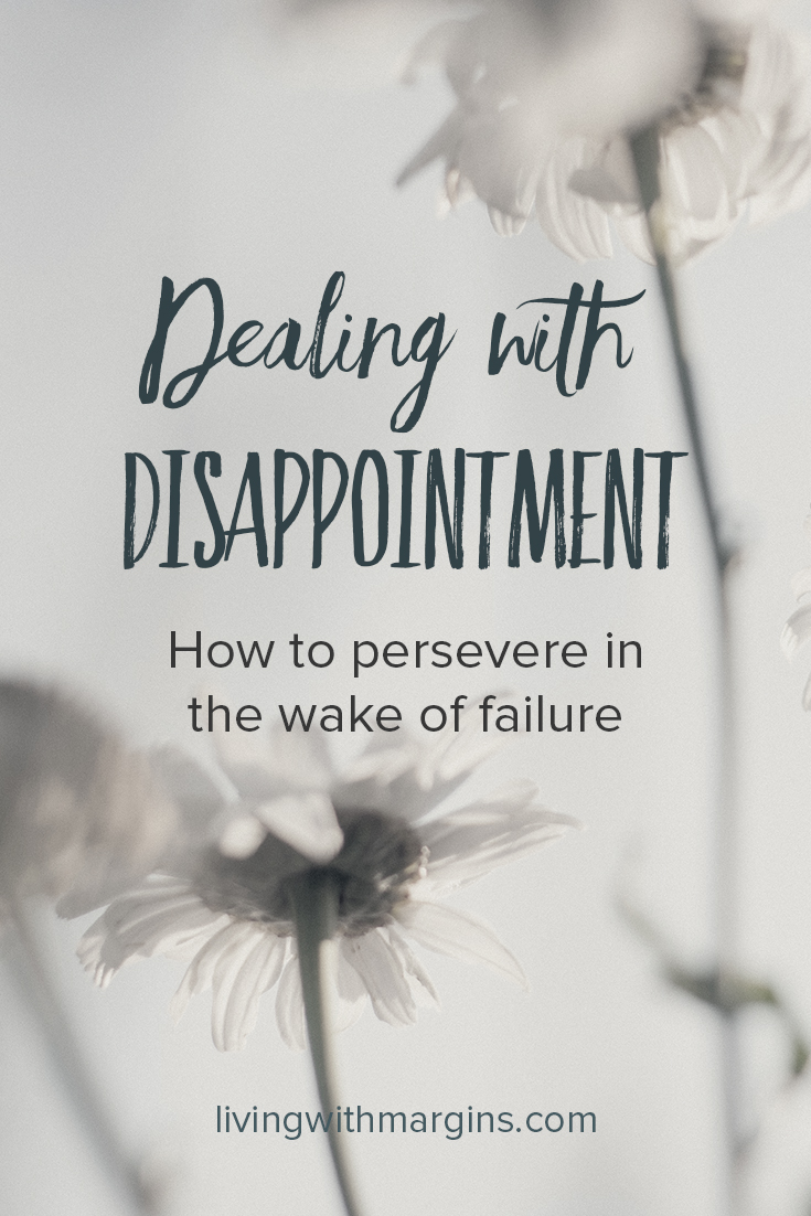 We make mistakes and let people down, leading to disappointment and regret. We can learn and grow from our mistakes. #regret #failure #disappointment #hope #forgiveness