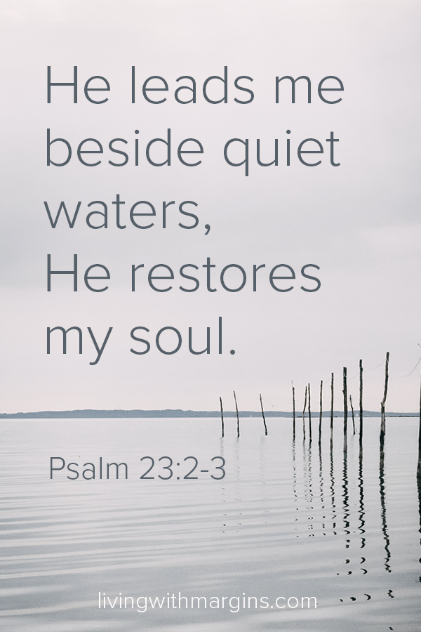 God doesn't call us to be busy and stressed all the time. Find a quiet place, and rest. #psalm23 #rest #mentalhealth #busy