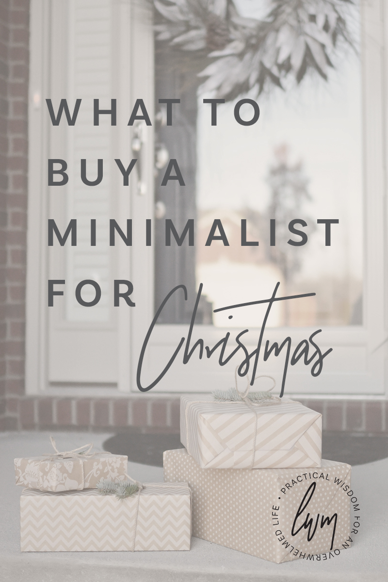 A gift guide for those who don't want to acquire a whole lot of 'stuff' this Christmas.  Show your family you love them without wasting money on unwanted gifts. #giftguide #minimalism #christmas
