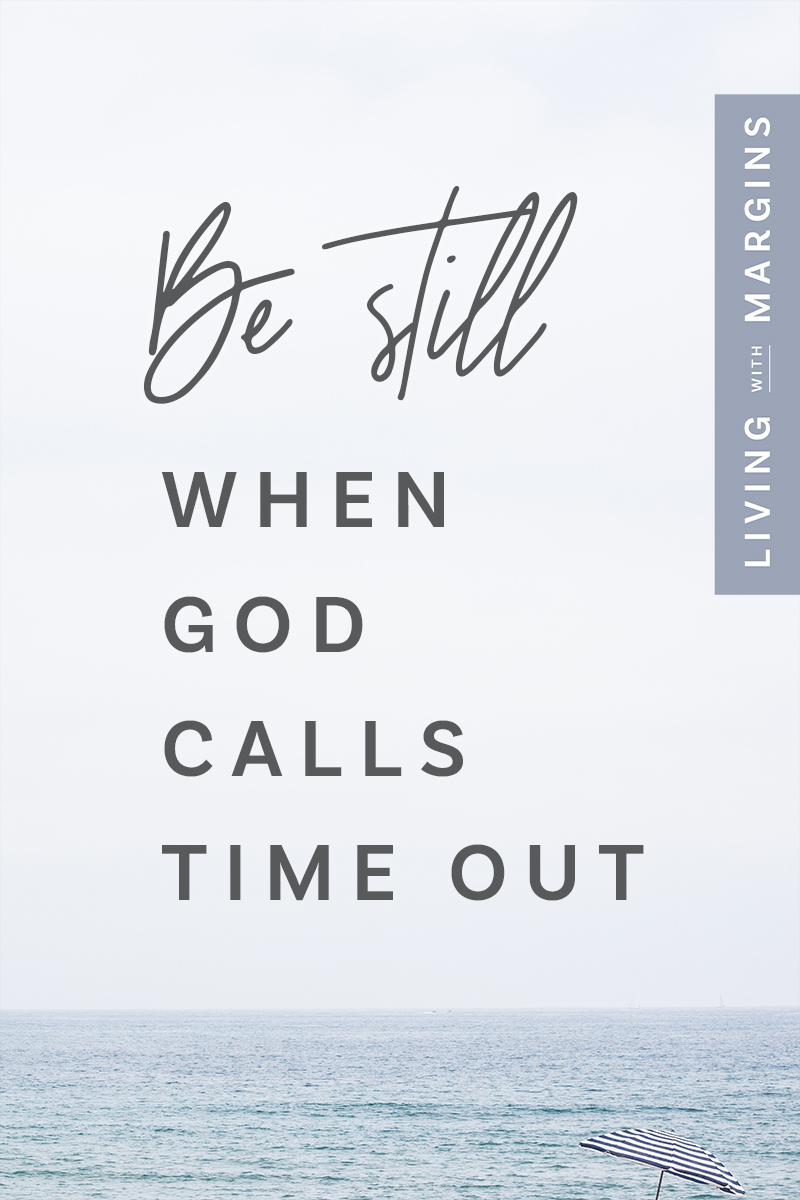 God calls us to be still and know that He is God, to trust Him, rest and  be restored. #rest #sabbath #mindfulness #psalm23