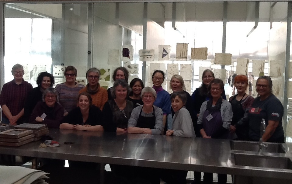 Group Photo -  Paper Secrets in Tasmania - a Hanji Making Weekend with Aimee Lee