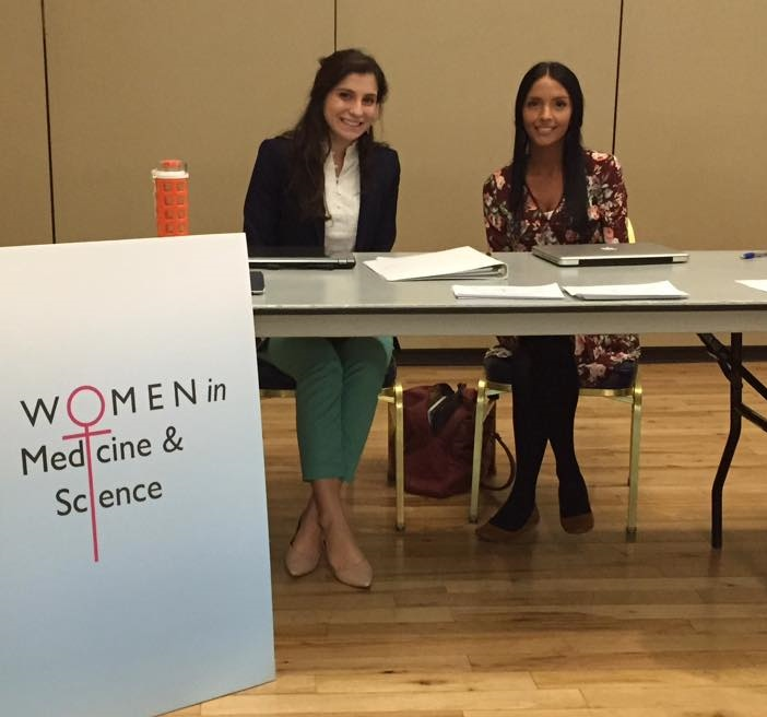 WIMS at the University of Arizona Pre-Health Expo 2016. Featured Eleni Moschonas (left) and Leah Hall (right)