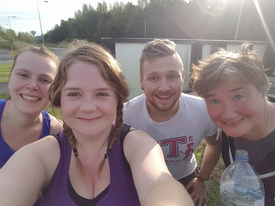 Boot camp session #2 wouldn't have been complete without a quick selfie!