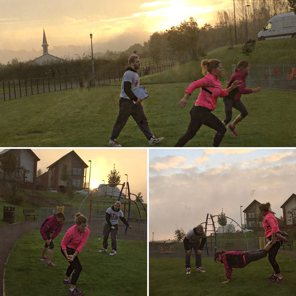 Lots of hard work, calories burnt and muscles worked. All in front of a beautiful sunrise. Why not join in on a Saturday morning? Contact us for more detail!