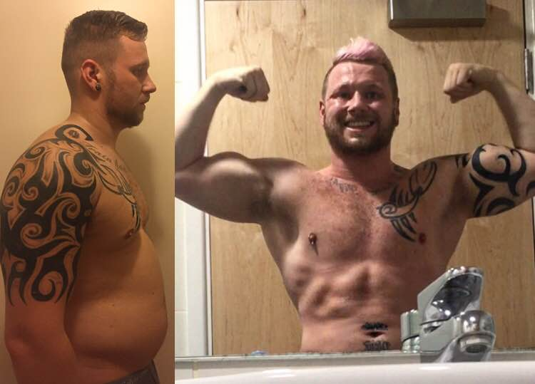 As many of my clients already know, I like to stay humble to the processes that they go through with my support. One way that I do this is by gaining weight, to loose it again in short periods of time. The above images are a one month transformation from October 2016.