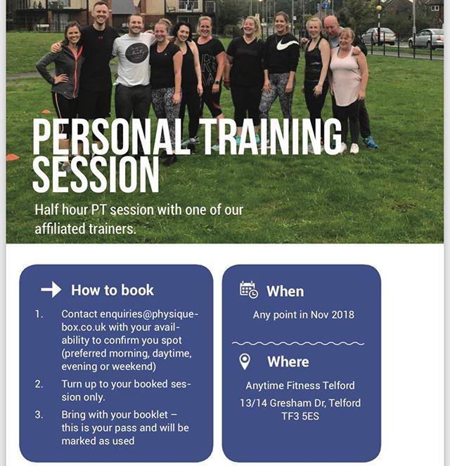 So the first month Physique Box has been launched.  1 of 5 surprise #fitsperiences included is a PT session with @elitephysiquept !  #weightloss #gym #getfit #fitfam #fitness #fit #fitspo #gymlife #fitlife #girlswholift #girlsthatlift #fitnessgirl #fitnessgirls #girlsthatlift #gymgirl #fit #fitspo #fitfam #fitfamily #weightloss #weightlossjourney #fatloss #strong #fitnessmotivation #gymtime #gymrat #gymflow #strongisthenewskinny#fitnessjourney #fitlife