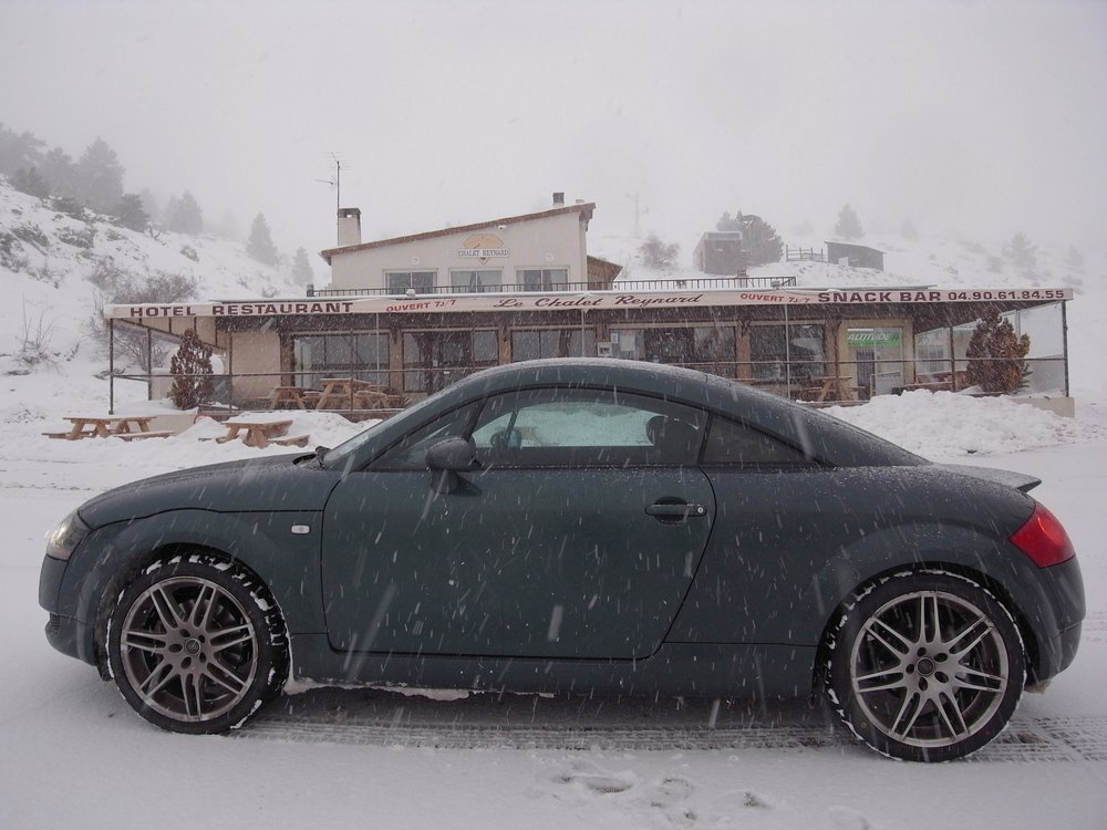 With new winter tyres even the winter roads of Mt Ventoux couldn't stop us.