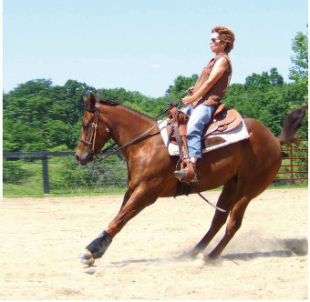 Unrelaxed western riding