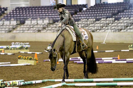Jessie Leach in AQHA Trail