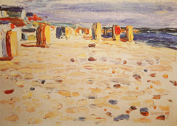 Wassily Kandinsky,  Beach Baskets in Holland