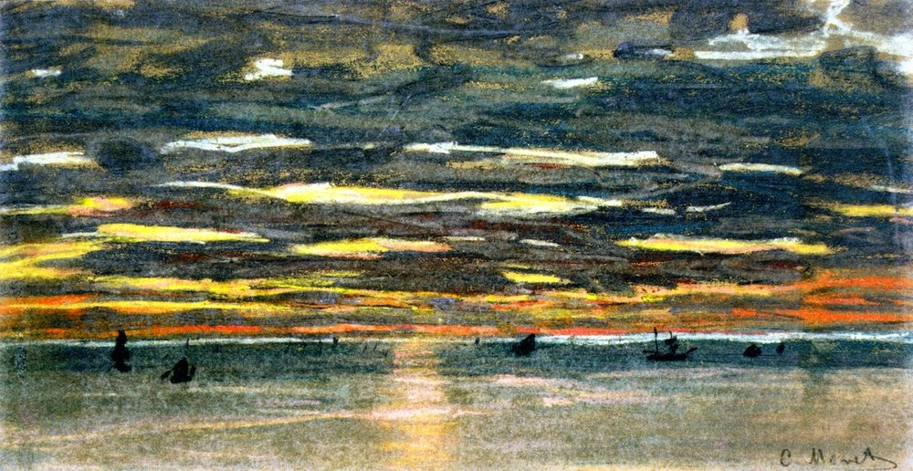 Claude Monet, Sunset over the Sea