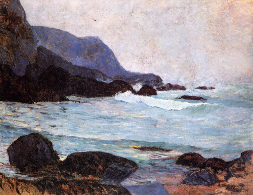 Paul Gauguin,   The Coast of Bellangenay