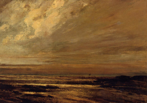 Gustave Courbet, The Beach at Trouville at Low Tide