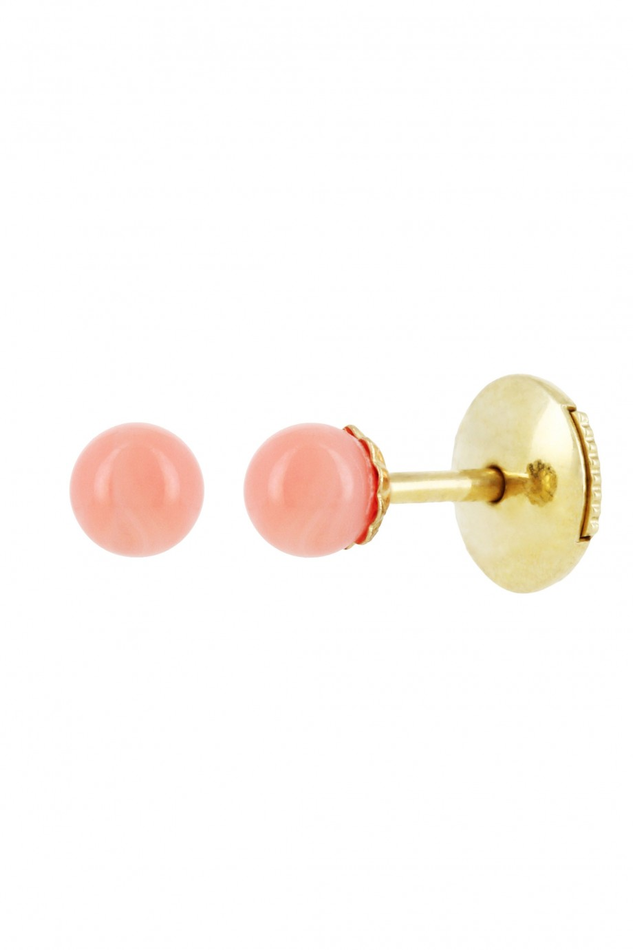 Coral gold earrings by Yvonne Leon Available here
