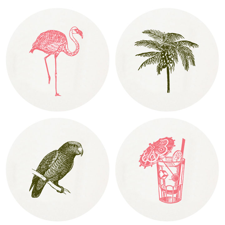 Tropical Coaster by Haute Papier Available here