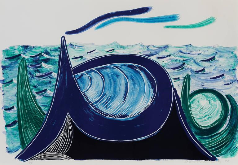 David Hockney, The Wave, A Lithograph (1990)