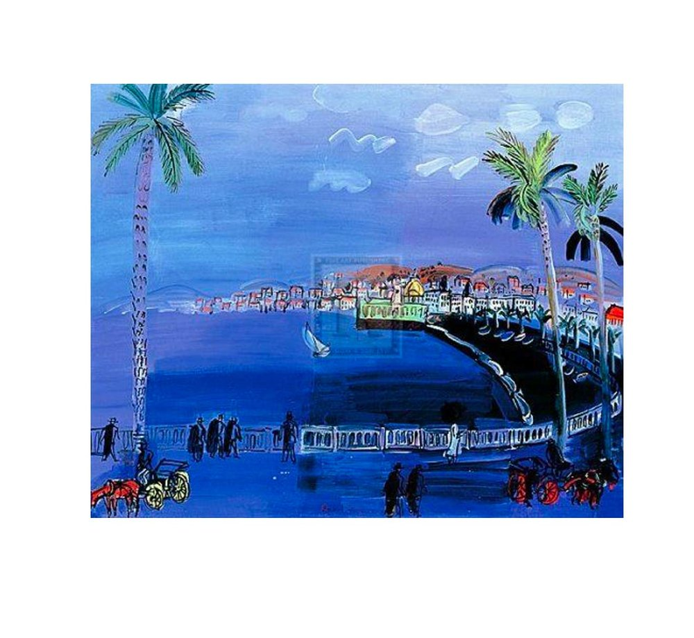 Raoul Dufy, Baie des Anges, Nice 1929