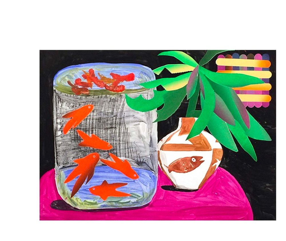 - Karen Lederer, Picasso Vase and the Fish