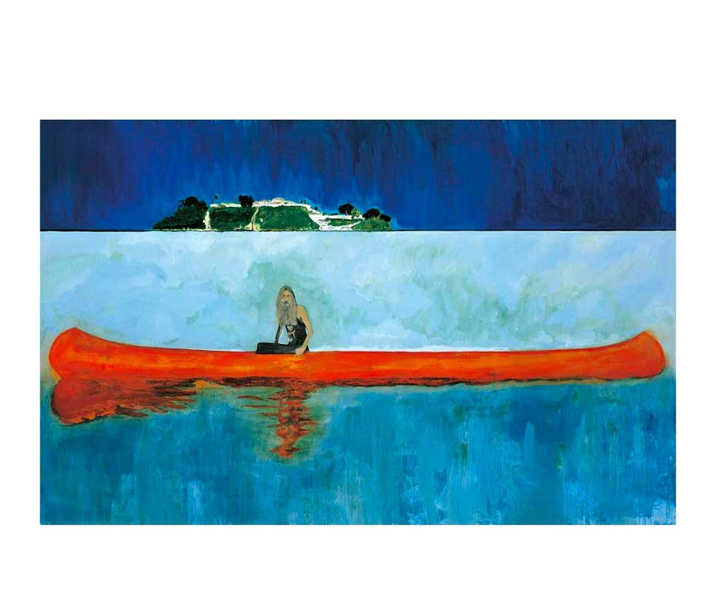 Peter Doig,  100 Years Ago  (Carrera), 2001