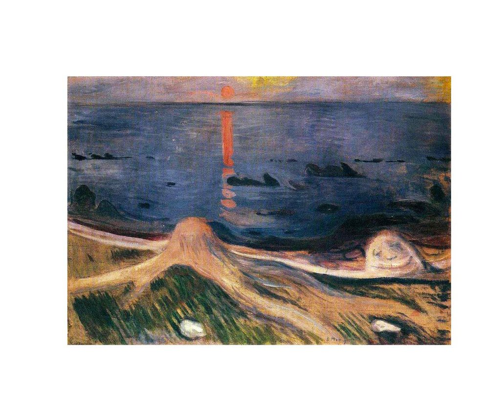 Edvard Munch,  Mystery of the beach