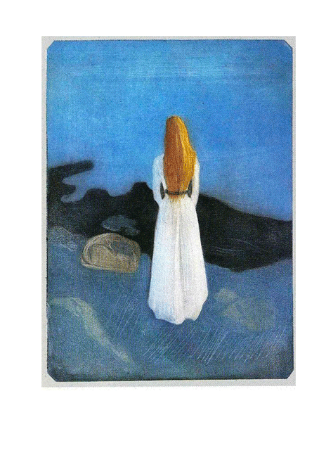 Edvard Munch,  Girl at the Beach , 1896