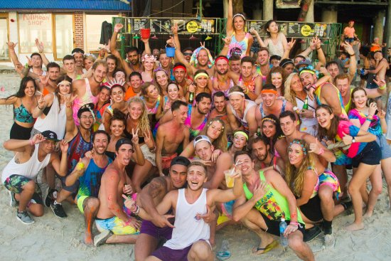 The Dancing Elephant survivors at the Full Moon Party