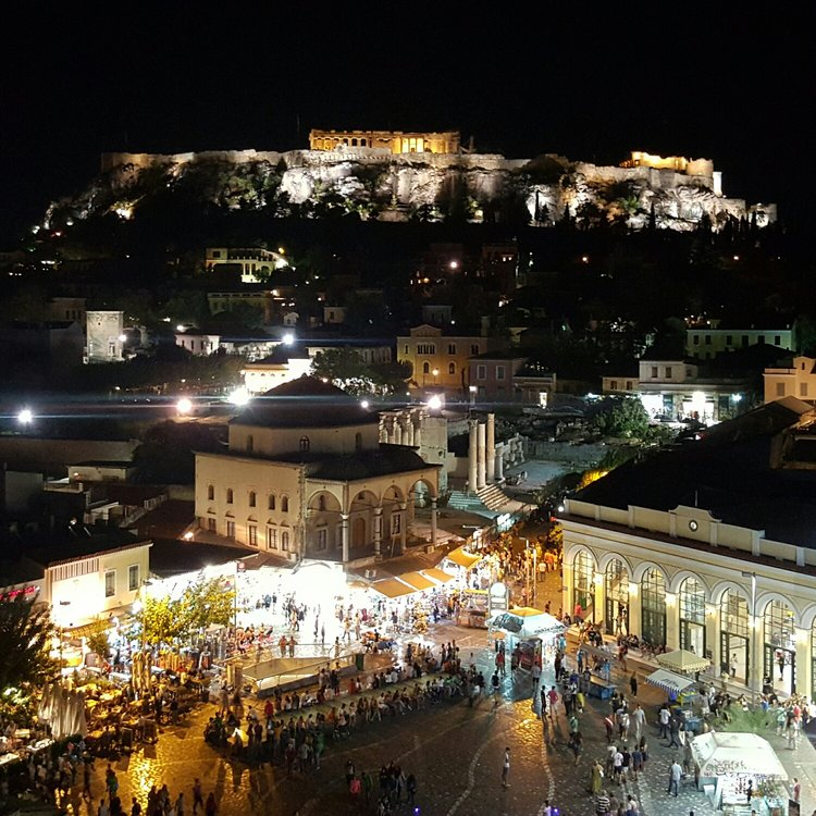 Downtown Athens from A for Athens terrace bar