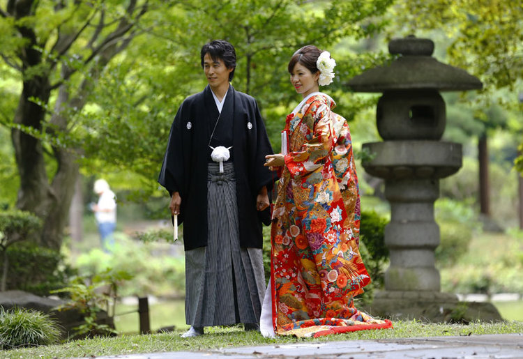 Traditional wedding in Japan