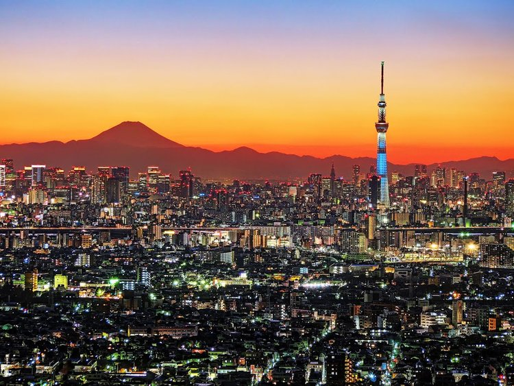 Tokyo Skytree and Sunset