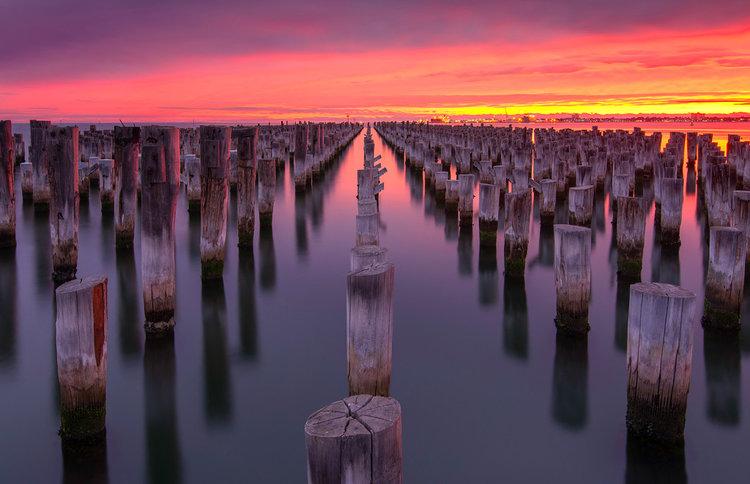 Princess Pier Sunset, Melbourne