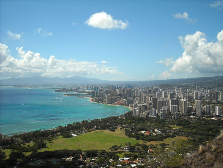 Honolulu view from Diamond Head