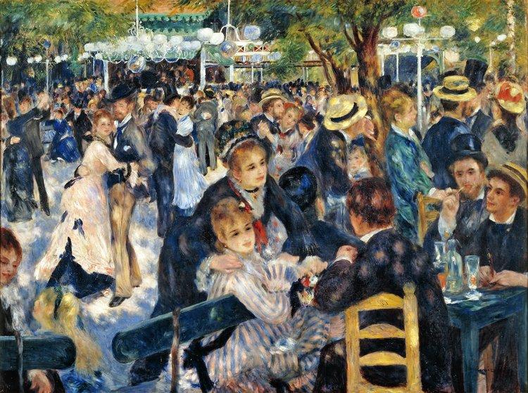 The Dance at the Moulin de la Galette by Pierre-Auguste Renoir