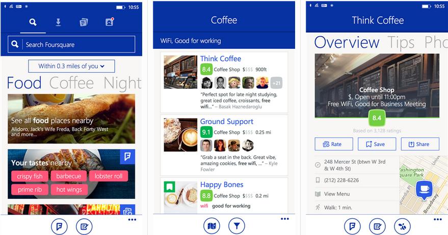 Foursquare Mobile App