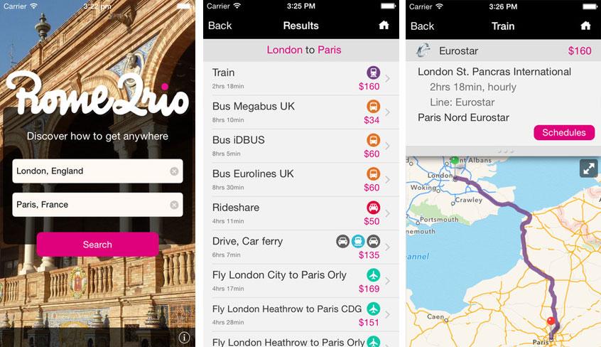Rome2Rio Mobile App