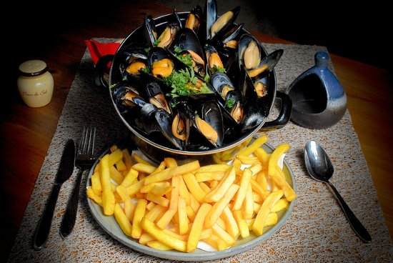Fries and Mussels in Belgium