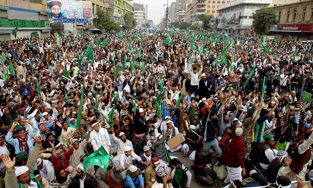 Protestas en Karachi, Pakistan